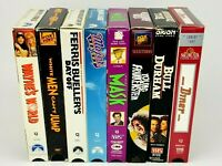 (8) VHS Tape Lot Of Comedy Movie Classics 80's 90's Tested Jim Carrey