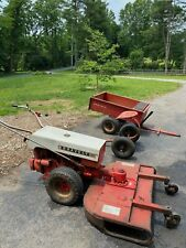 New listing Gravely Commercial 10A w/bush hog, dump wagon and sulky