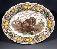 Huge Barker Bros Staffordshire Pottery Tudor Ware Turkey Platter