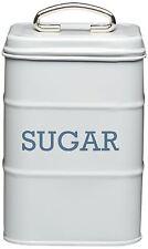 Kitchen Craft Living Nostalgia Barattolo latta Zucchero Sugar Grigio Rivenditore