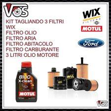 KIT TAGLIANDO 3 FILTRI 3 LT OLIO MOTUL X-CLEAN 5W40 PER FORD KA II 1.2 DAL 2008