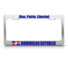 DOMINICAN REPUBLIC GOD LIBERTY COUNTRY License Plate Frame Stainless