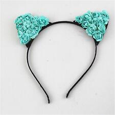 Blue Elf Cat Ears Headband Anime Cosplay Party Costume Halloween Orecchiette