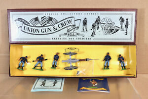 BRITAINS 8875 AMERICAN CIVIL WAR UNION ARTILLERY GUN & CREW MINT BOXED nz