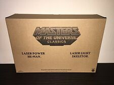 MOTU CLASSICS LASER POWER HE-MAN & LASER LIGHT SKELETOR HOLIDAY 2-PACK !!!