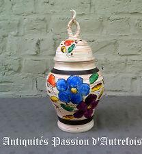 B2016330 - Vase en céramique H.Bequet - Quaregnon Belgique - 33 cm de hauteur