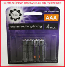 Signature Care AAA 1.5V ALKALINE BATTERIES SEALED NO MERCURY 4 pack Travel size
