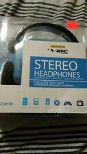 New Vibe Stereo Headphones 40mm Speaker 1.2M Cord 3.5MM Plug Adapter NIB