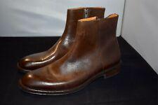 $400 Men's Sz 9 M Donald Pliner Pavel Leather Chelsea Boot In Expresso