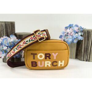 Tory Burch Dark Solarium Leather Mini Perry Logo Crossbody Small Bag NWT