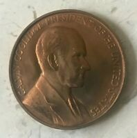Calvin Coolidge Inauguration Medal Bronze Medal