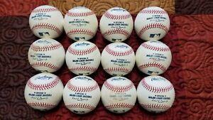 MLB Baseballs One dozen BP/ Game Used Rawlings Offical Major League Baseballs