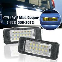Coppia 12V Luce Targa Posteriore 18 Led Lampada Per Mini Cooper R56 2006-2012