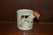 More details for blue witch dog coffee can - wire fox terrier handmade