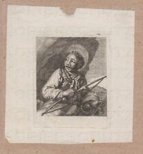 Kupferstich um 1700 Schwarzer Bogenschütze Black Archer nach Cornelis Visscher