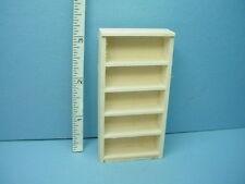 "Miniature Bookshelf #H300 Handcrafted  Unpainted 1/2"" (1:24) Scale"