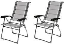 X2 Dukdalf Aspen Folding Caravan Chair Grey Stripe - 2017 Model -