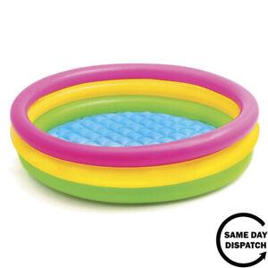 New Intex Childrens Kids Paddling Swimming Pool 114cm x 25cm Garden Play Pool