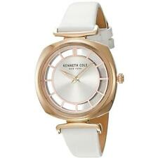 f37f7a543c8 Kenneth Cole Womens Roase Gold Case on a White KC15108003 Watch - 32 off