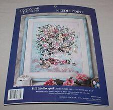 Still Life Bouquet Stamped Needlepoint Candamar Designs Kit 30776 Wyatt New