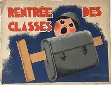 """""""RENTRÉE DES CLASSES"""" PROJET D'AFFICHE A LA GOUACHE ANONYME"""