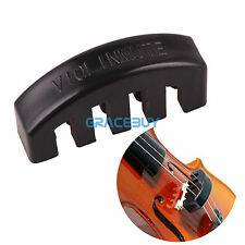 Black Heavy Rubber Violin Mute Silencer Practice Fiddle for 1/2 3/4 4/4 Violin