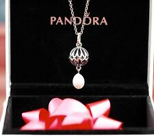 Authentic PEARL DROP PENDANT Sterling Silver Necklace