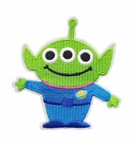 Toy Story Movie Alien Cartoon Character Figure Green Embroidered Iron On Patch