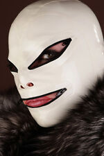 100% Latex Rubber Gummi Hood 0.8mm Mask Catsuit Suit Hoodie Halloween Costume