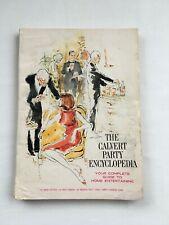 Vintage 1964 The Calvert Party Encyclopedia Drink 242 Recipes Condition Fair