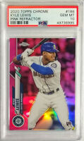 2020 Topps Chrome Kyle Lewis Pink Refractor Mariners Rookie RC PSA 10 GEM MINT