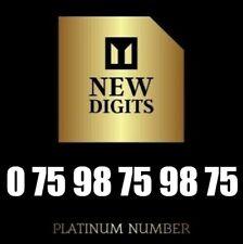 GOLD UNIQUE DIAMOND PLATINUM VIP BUSINESS MOBILE PHONE NUMBER SIM CARD