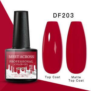 MEET ACROSS Nail Art Gel Color Polish Soak-off UV/LED Varnish Manicure DF203