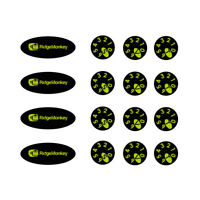 Set Premium 3D Domed RIDG MONKEY Chrome Dial Stickers Kit Delkim TXI EV PLUS