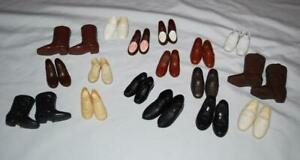 Vintage Ken Doll Shoes Cowboy Boots Sneakers Loafer Lot 17 Pairs