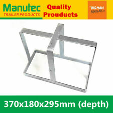 Manutec Jerry Can Holder Zinc plated For Trailer