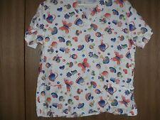 ladies size (small) bless-u cute pattern short sleeve scrub top