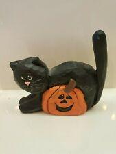 Eddie Walker Cat with Pumpkin Halloween Midwest Cannon Falls