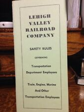 Lehigh Valley Railroad, Safety Rules  Transportation Department. 1965