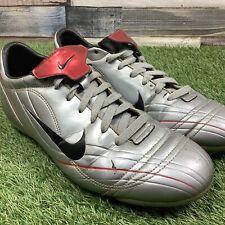 UK9 Nike Mercurial Pace Vapor II VTG FG Football Boots - Retro Silver - EU44