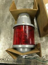 27S-120RSB FEDERAL SIGNAL CORP RED ROTATING LIGHT, 120 VOLT, 60 hz, SERIES: B2
