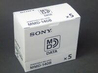 5-pcs SONY Mini Discs for Data MMD-140B Rewritable Mini Disc 140MB / from Japan