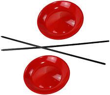 5 Jonglierteller in der Farbe Rot incl. 5 Kunststoffstäben