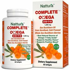 COMPLETE OMEGA 3-6-7-9 * Highest Quality, Pure Sea Buckthorn Oil From Unrefined,