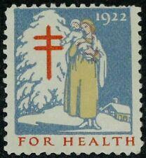 1922 WX30 Mother/Child US Christmas Holiday Seal OG Mint MNH
