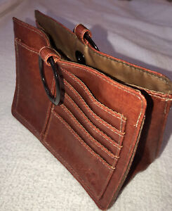 Pouchee Leather Purse Insert Organizer In Ausie Red, New w/o Tags - Super Neat!
