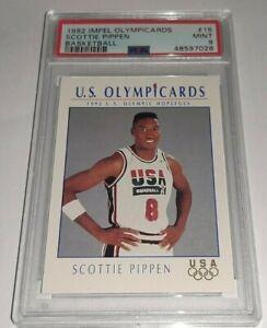 1992 Impel Olympicards #15 Scottie Pippen PSA 9 Mint Dream Team USA Pop 21