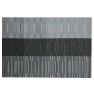 "Thymat Reversible Woven Vinyl Placemats, 12""X18"", Set of 6,Multiple Colors"