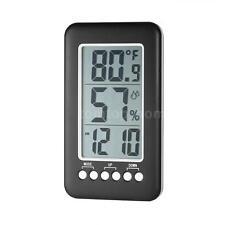 Wireless LCD Digital Thermometer Hygrometer Wall Hanging Clock Temp Meter U6N6