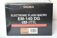 Used Sigma EM-140 DG NA iTTL Ring Light Macro Electronic Flash for Nikon Camera